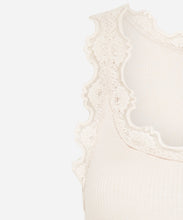 Load image into Gallery viewer, Babette Silk Singlet: Lace-Straps