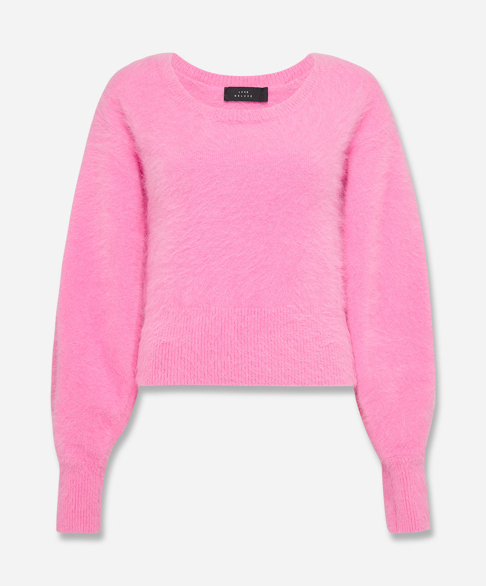 Our Song Angora Balloon Sleeve Sweater