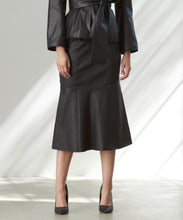 Load image into Gallery viewer, Pure Iconic Stretch Leather Midi Skirt