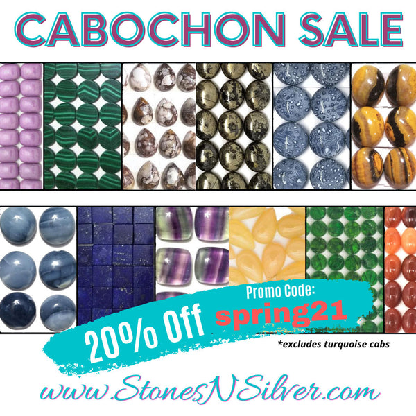 cabochons on sale at www.stonesnsilver.com