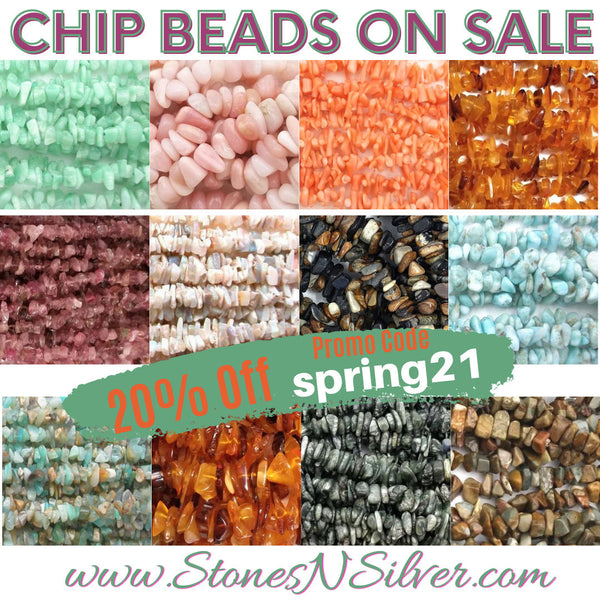 gemstone chip beads on sales at www.stonesnsilver.com