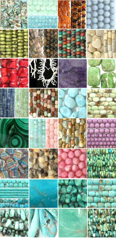 turquoise beads, gemstone beads, cabochons for jewelry making.