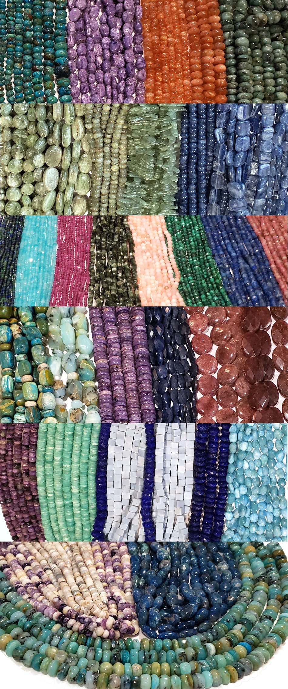 Gemstone beads coming soon from the Tucson Gem Shows 2021 at www.stonesnsilver.com