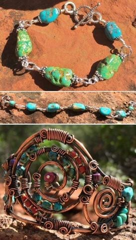 StonesNSilver Customer designs of Gemstone Necklaces with Handcut Focal Pendant Beads