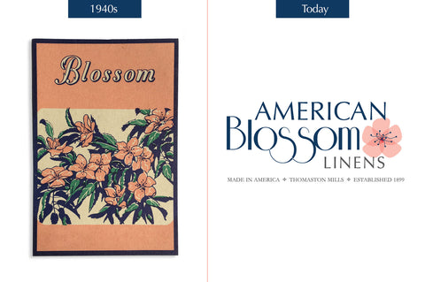 Classic Blossom logo from 1940 and Today's logo.
