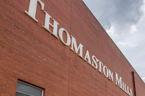 Thomaston Mills cotton textile manufacturing exterior.