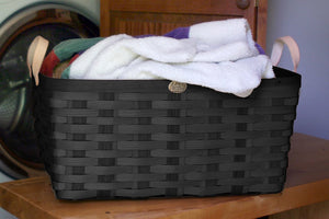 Black American Made Appalachian Ash Laundry Basket
