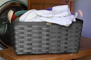 Driftwood Grey American Made Appalachian Ash Laundry Basket