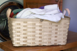Natural American Made Appalachian Ash Laundry Basket