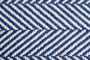 American Made Organic Cotton Herringbone Weave Blanket