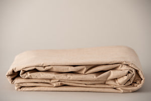 Organic Cotton Duvet Cover Set Folded Up for Storage