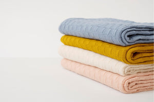 American Made Organic Cotton Baby Blanket