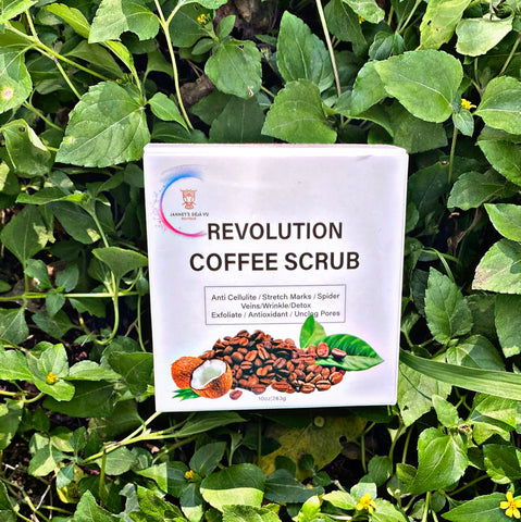 COFFEE SCRUB -Anti Cellulite/Stretch marks/ Spider Veins/ Wrinkle/ Detox Exfoliate/ Antioxidant/ Unclog Pores