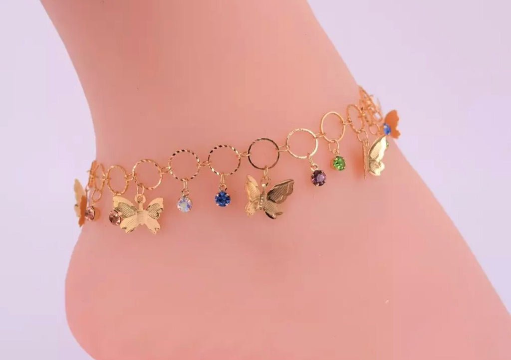 Mariposas Ankle or Bracelet with ojitos