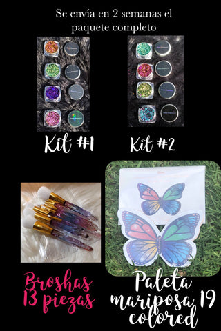Full Kit 🦋 Palette And Brushes and Boss Diamond Flakes Kit#1&#2