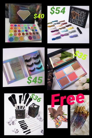 EVERYTHING IN PICTURE GET MARIPOSA PALETTE AND BRUSH SET FREE PURCHISING THE FULL COLLECTION