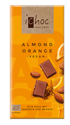iChoc Organic Almond Orange Vegan Chocolate 80g