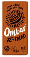 Ombar Organic Dark 72% Raw Chocolate Bar
