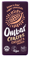 Ombar Organic Coconut & Vanilla Centres Raw Chocolate Bar