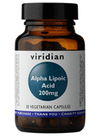 Viridian Alpha Lipoic Acid 200mg 30 Veg Caps