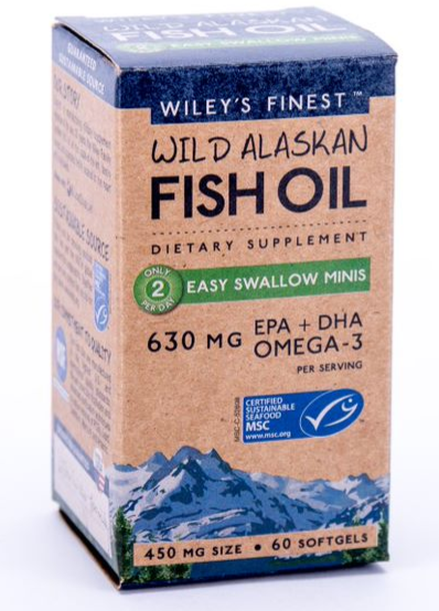 Wiley's Finest Easy Swallow Minis Fish Oil 60 Softgels