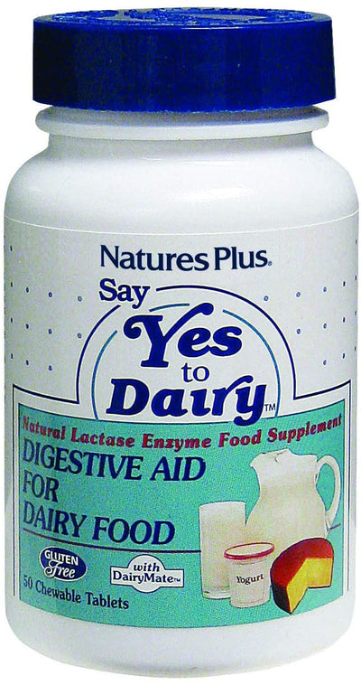Natures Plus Say Yes to Dairy® Natural Lactase Enzyme 50 Chewable Tabs