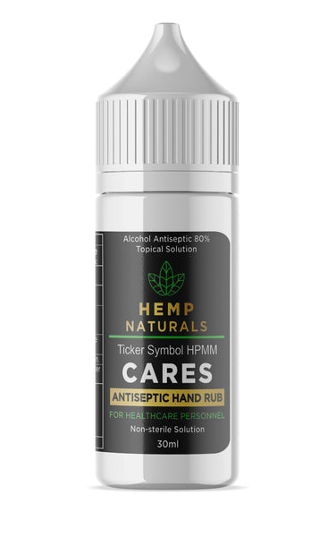WHOLESALE - 500 Pack Hemp Naturals Hand Sanitizer Gel - Medical Grade - 80% Alcohol (30 ml)