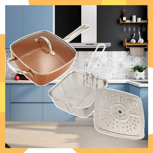 PanalongShopper.com 3-in-1 Copper Pan ( w/ Free Clever Cutter )