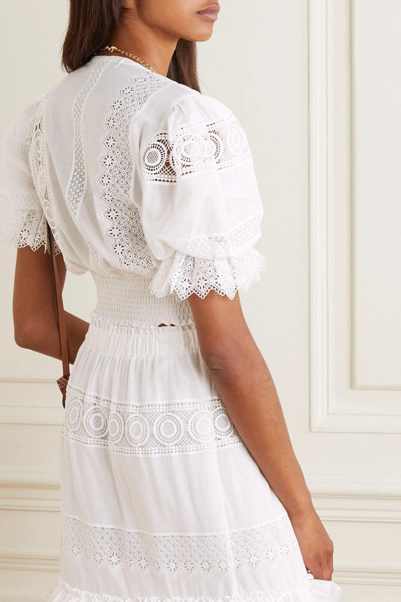 'Venus' lace-trimmed top - My Paloma