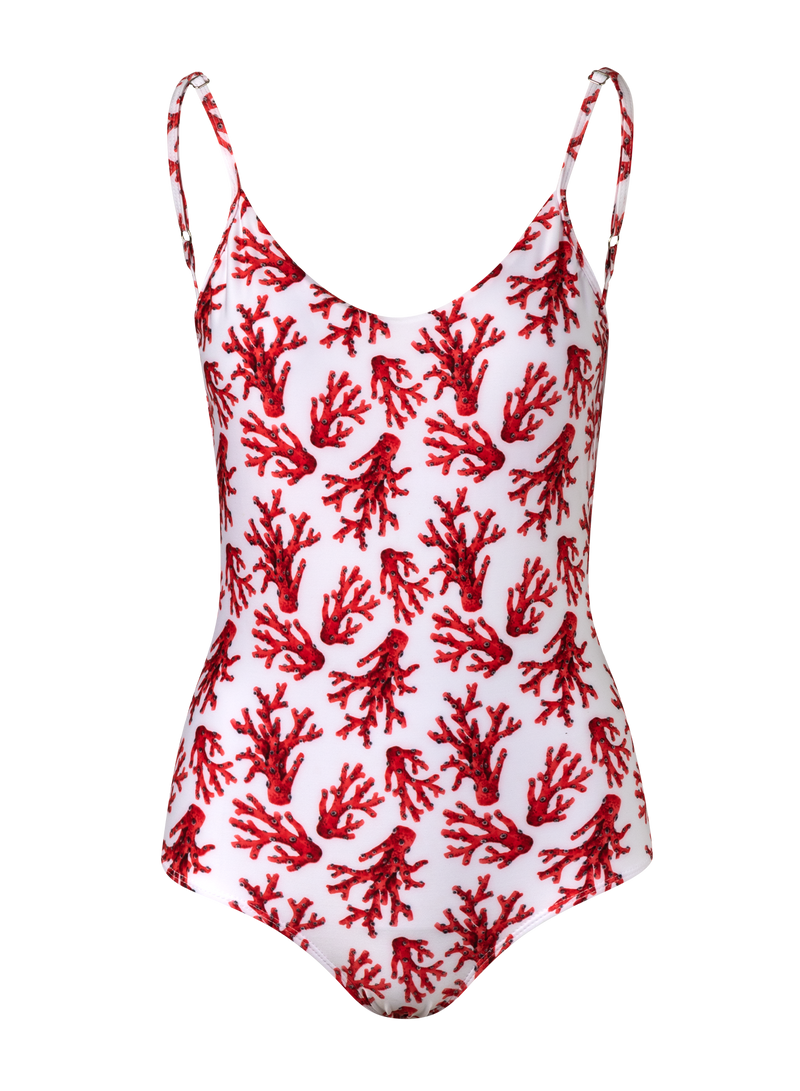 Tulum One Piece - White Corals