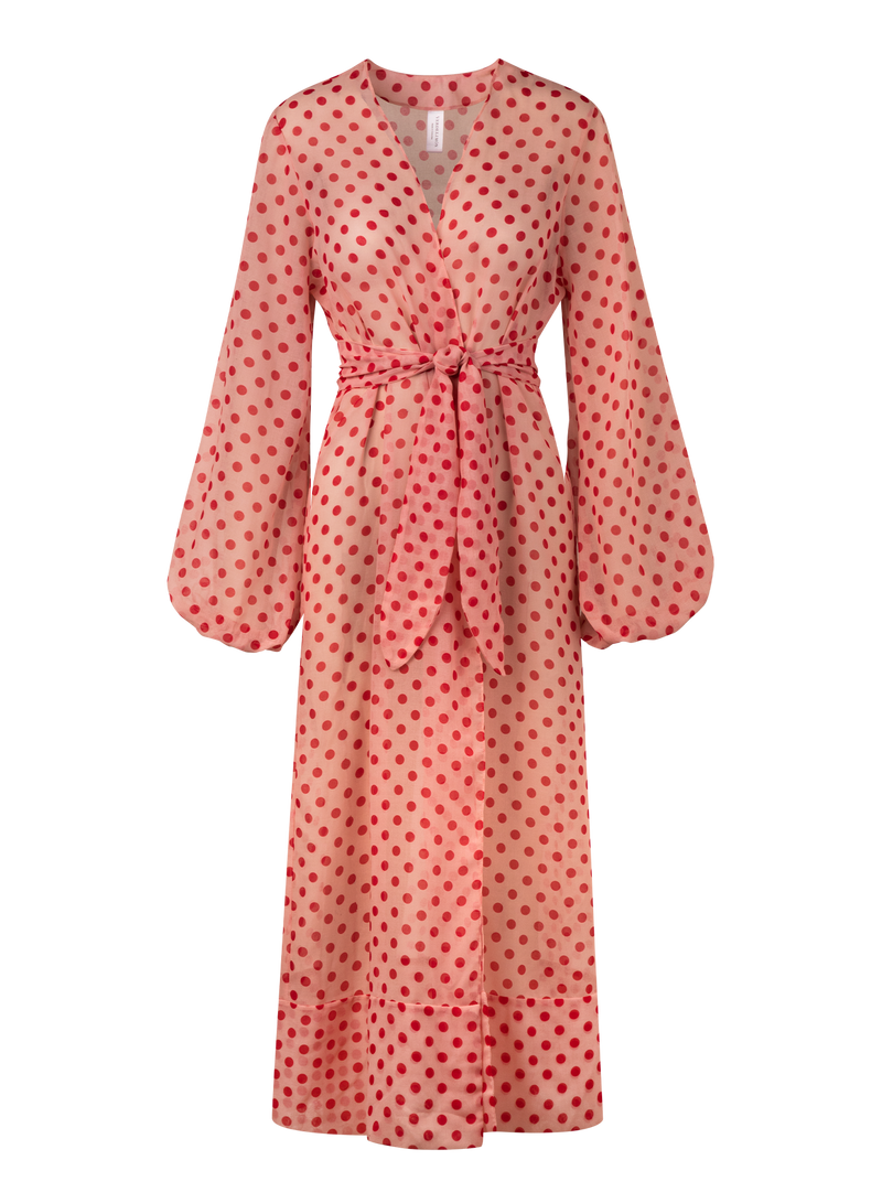 Jamaica Cover Up - Red Polka Dots