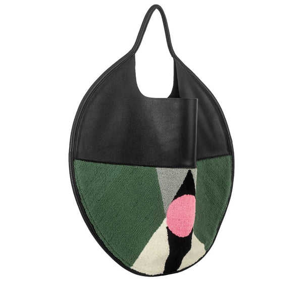 Disco Wayuu Black leather bag - My Paloma
