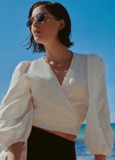 'San Miguel' linen top - My Paloma