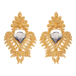 Queen Gold Plated Swarovski crystal earrings - My Paloma