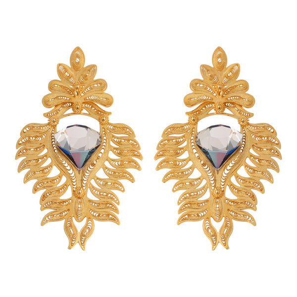 Queen Gold Plated Swarovski crystal earrings