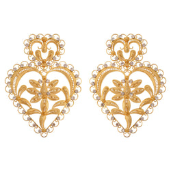 Gold Plated Swarovski crystal earrings - My Paloma