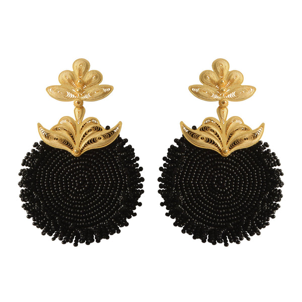 Chequia gold-plated earrings