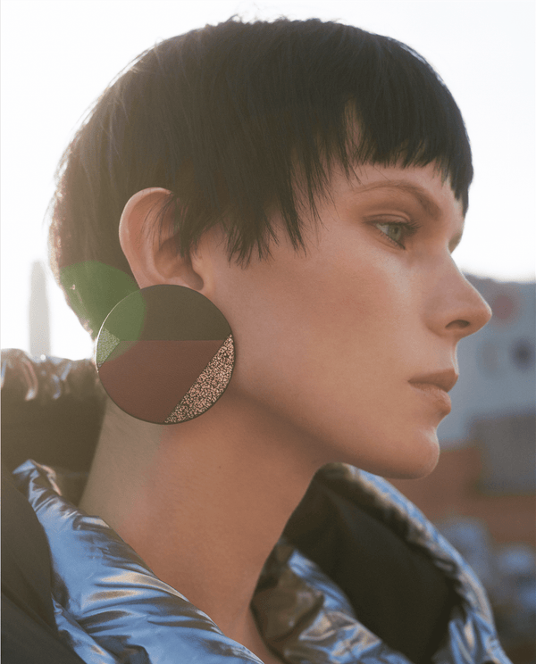 Round patchwork earrings - My Paloma