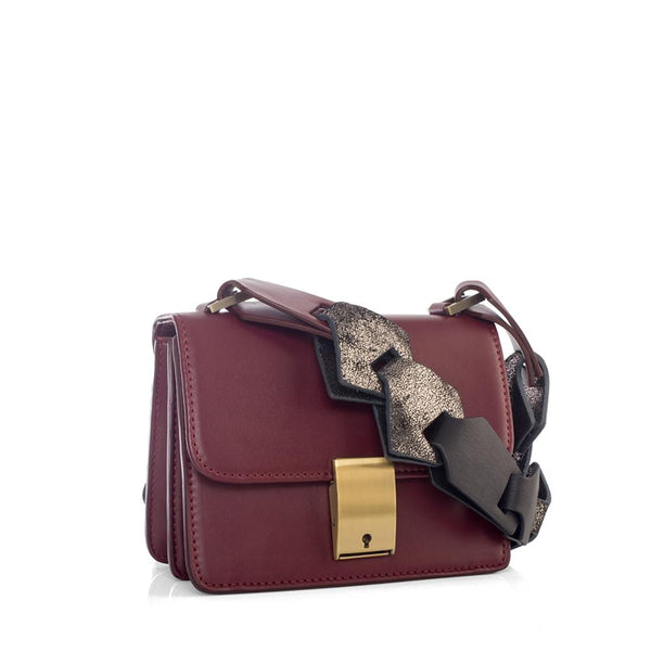 Mini Messenger Burgundy Bag