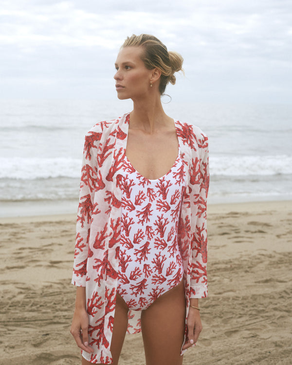 San Juan Cover Up - White Corals