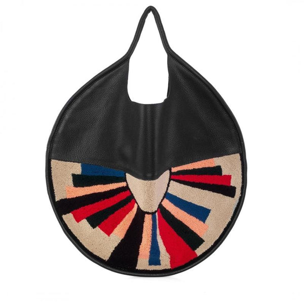 Disco Wayuu leather bag