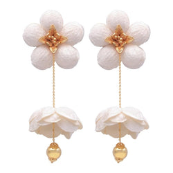Double Flower thread bean earring - My Paloma
