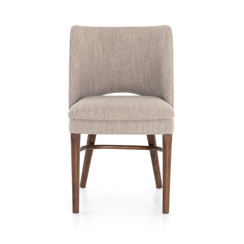 AMY LE FLANNEL DINING CHAIR-Dining Chairs-Bridget's Room