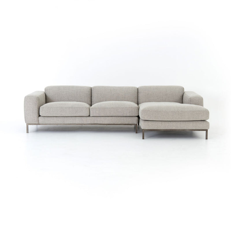BRINLEY 2PC. SECTIONAL RAF NE GREY-Sectionals-Bridget's Room