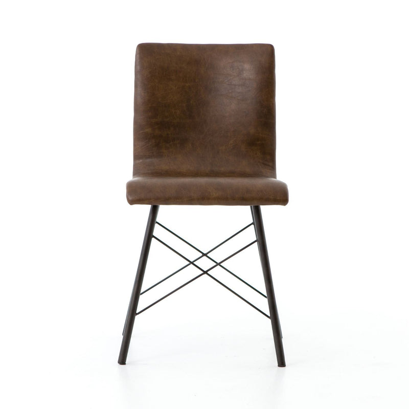CHIP ED BROWN DINING CHAIR-Dining Chairs-Bridget's Room