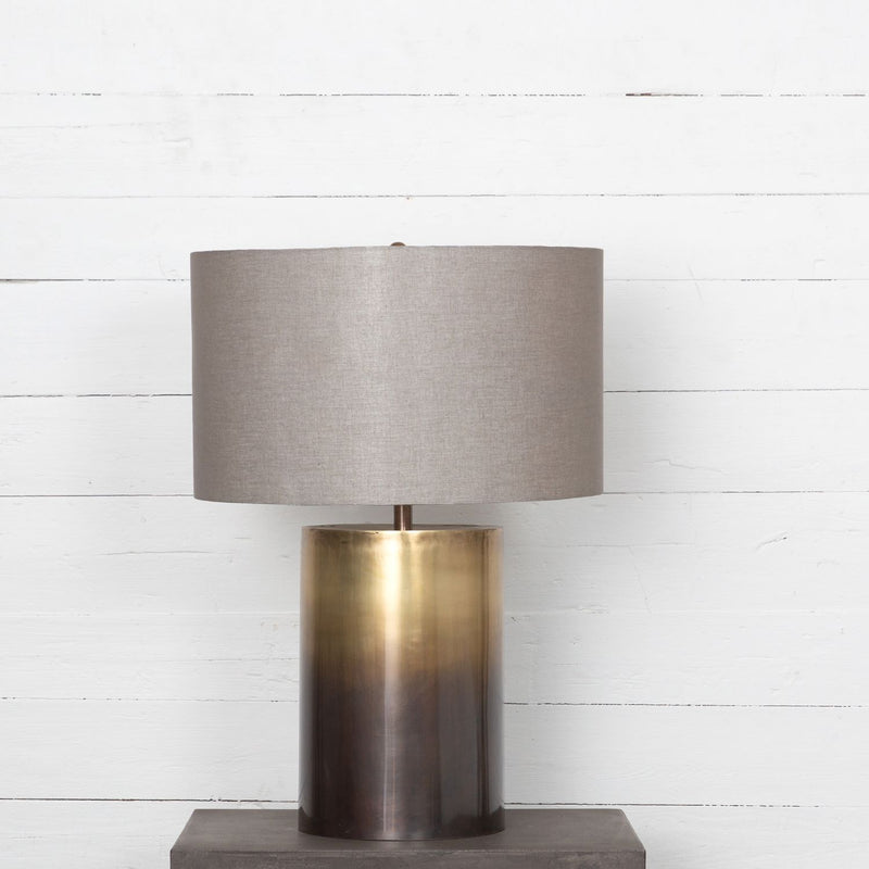 COLIN OMBRE ANTIQUE BRASS TABLE LAMP-Table & Floor Lamps-Bridget's Room