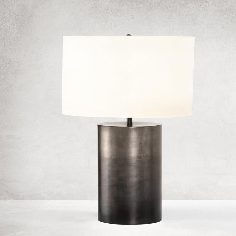 COLIN OMBRE PEWTER TABLE LAMP-Table & Floor Lamps-Bridget's Room