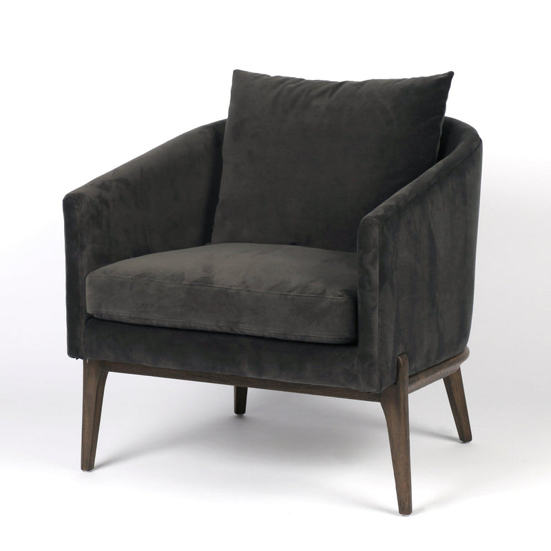 CORA LA SMOKE ACCENT CHAIR-Occasional Chairs-Bridget's Room