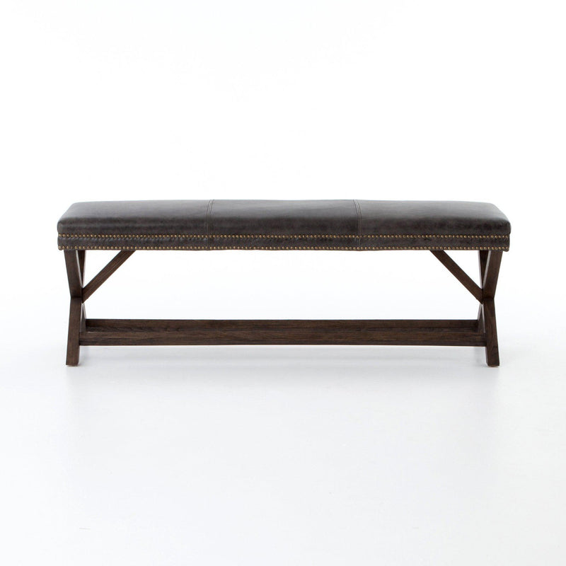 ELLIE LEATHER BENCH-Benches-Bridget's Room
