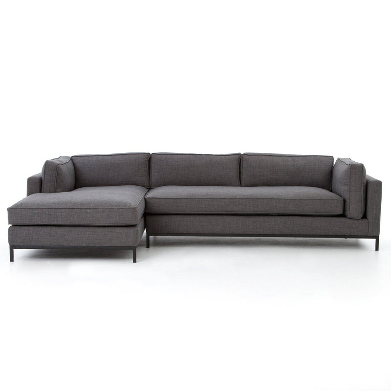 GRAHAM COAL 2PC LEFT CHAISE SECTIONAL-Sectionals-Bridget's Room